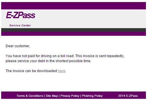 EZ-Pass Scam