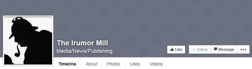 iRumorMill.com Facebook Page