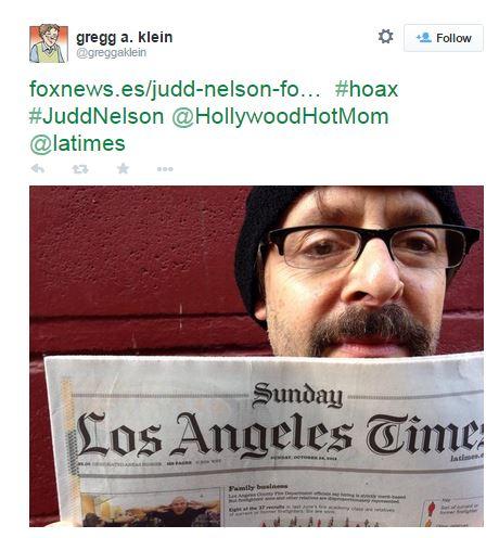 Judd Nelson is not dead