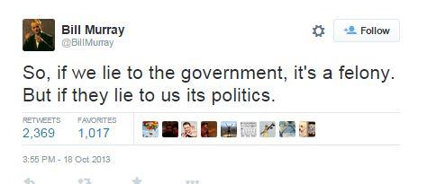 Bill Murray Politics