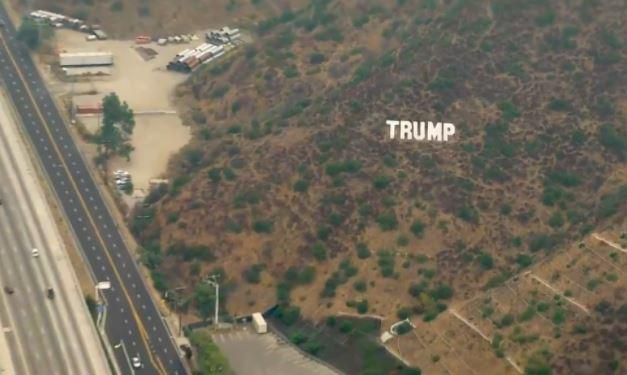 Trump Sign LA Freeway