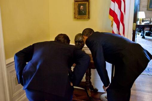Obama, Cameron and Churchill