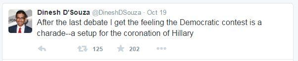 Dinesh D'Souza Tweet