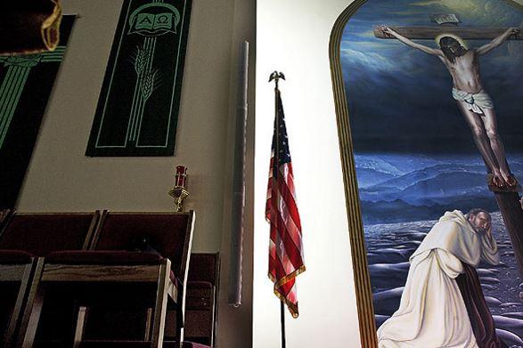 Flag in Church