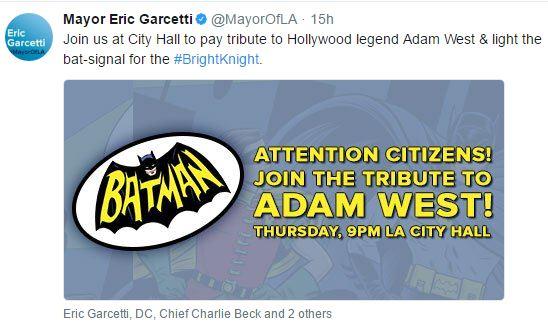 Bat Signal in LA