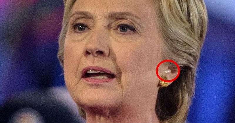 Hillary Clinton Earpiece