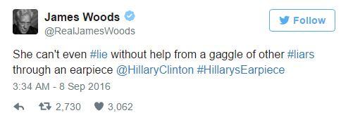 Hillary Clinton Earpiece Woods