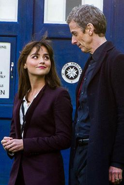 Jenna Coleman and Peter Capaldi - Doctor Who