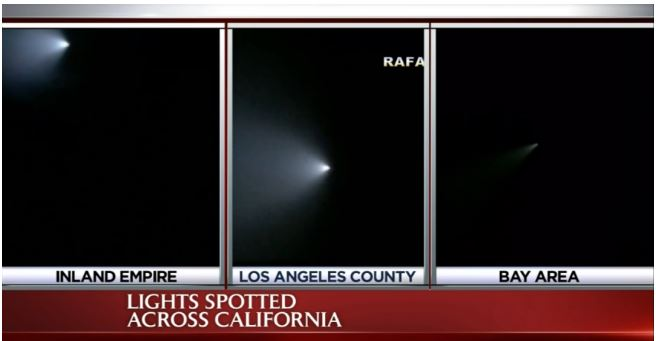 Navy Missile Test over California