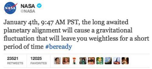NASA warning