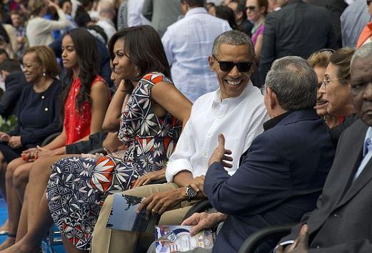 Obama baseball game Cuba