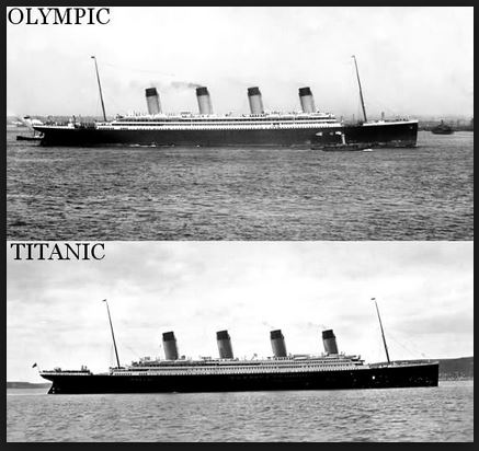 RMS Olympic and Titanic 1912