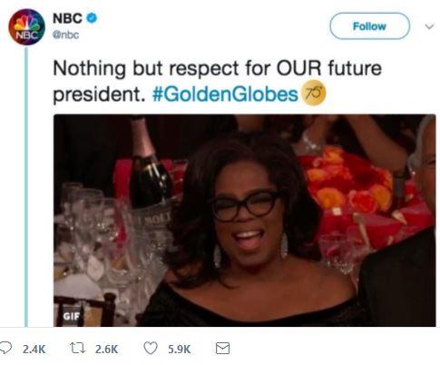 Oprah NBC Tweet