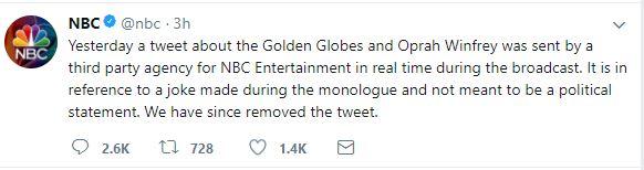 NBC Disclaimer