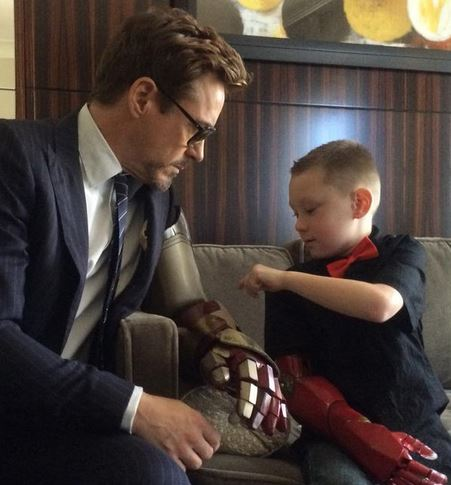 Robert Downy Jr and Little Boy