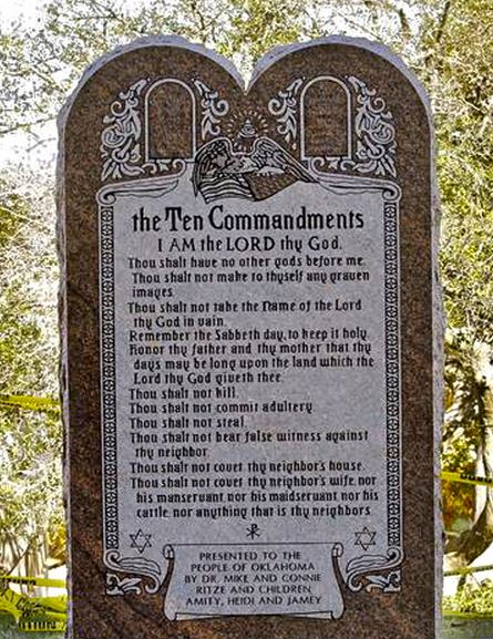 Ten Commandments Not OK in OK