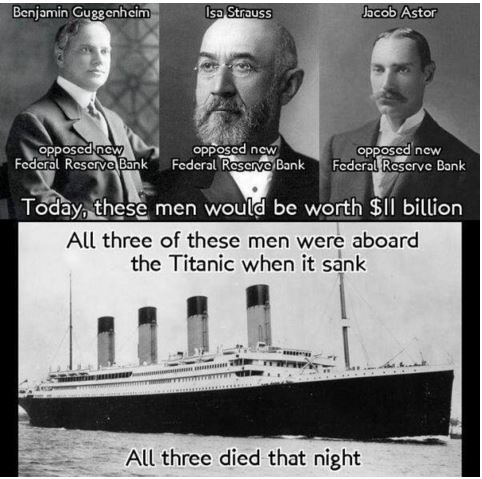 Titanic Federal Reserve Conspiracy