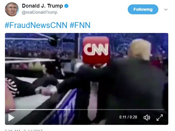Trump Tweet Trolls CNN