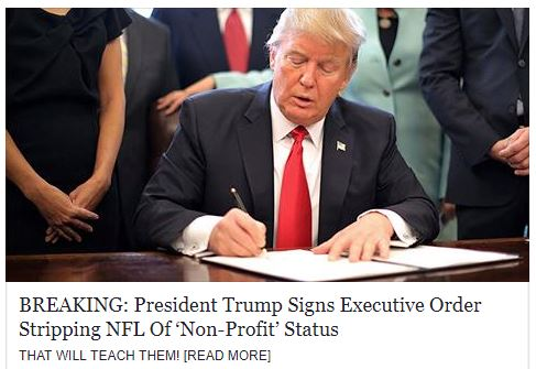 Trump NFL Tax Status Change