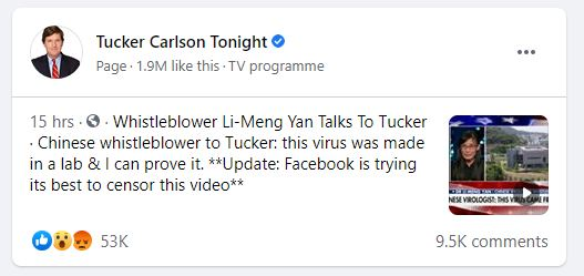 Carlson Yan Facebook Censored